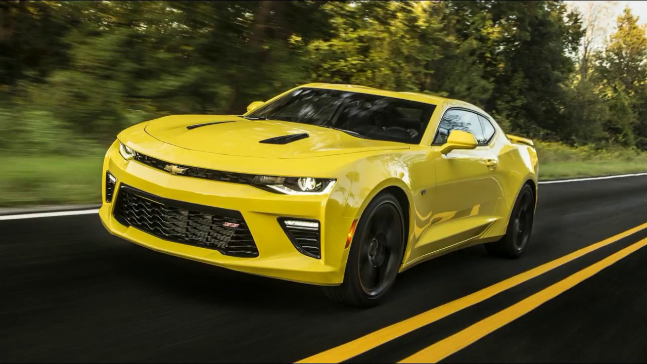 CHEVROLET CAMARO cars sport yellow 2018 review - YouTube