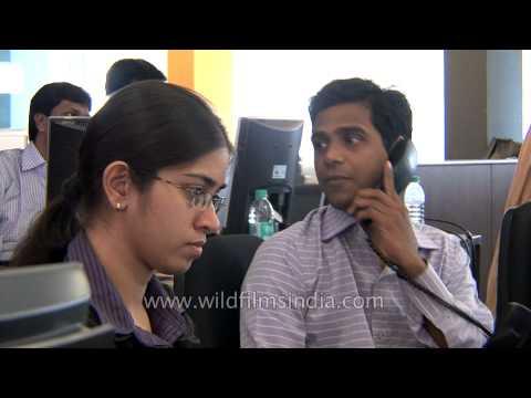 Screen-based trading system at Bombay Stock Exchange, Mumbai
