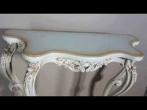 Консольный столик Версаль маленьний, слоновая кость (EL 8202 - sk)