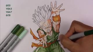Drawing Kid TRUNKS Super Saiyan   Dragonball Z   TolgArt