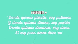 O quereres - Letra en español