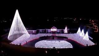 Patriotic Military Tribute with Synchronized Christmas Lights