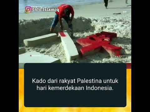 Hadiah Dari Palestina Untuk HUT Republik Indonesia Ke 74