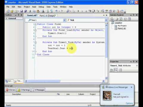 how to make a point counter in visual basic