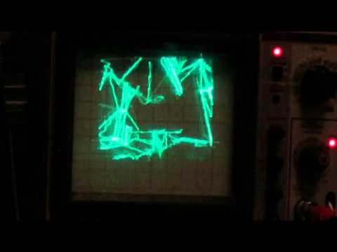 Quake on an oscilloscope