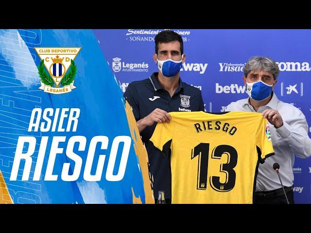 Presentación de Asier Riesgo como nuevo portero del C.D. Leganés