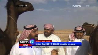Kementerian Kesehatan melarang jamaah haji dan umrah berfoto bersama atau selfie dengan Unta di Arab.