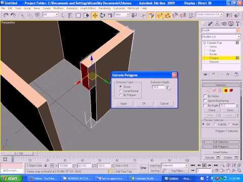 Makin 3ds max Building Room in Bangla