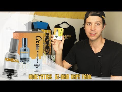 How to use OZ OhM Tank HoneyStick Powerful Dry herb Tank 510 Thread Temperature, Tricks, Flavor