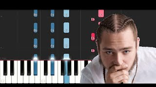 Post Malone ft Ty Dolla $ign - Psycho (Piano Tutorial)