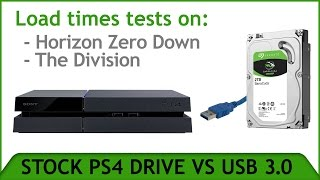 PS4 USB 3.0 External vs Stock Drive Speed-Loading Test.