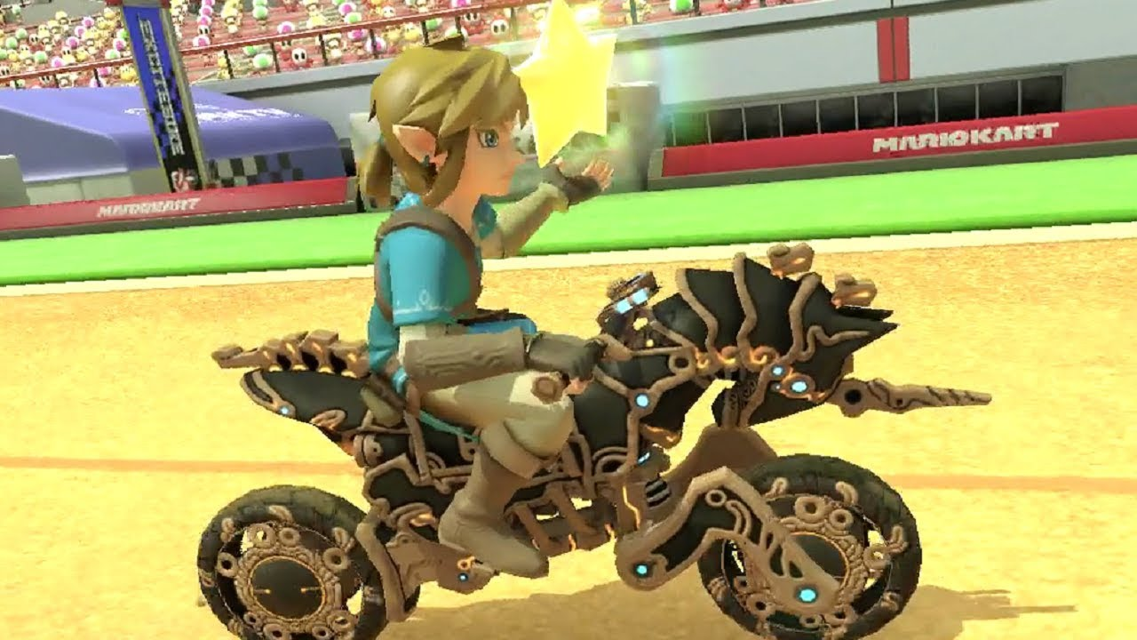 Mario Kart 8 DLC - Breath of the Wild Link + Master Cycle Zero (Online Races)