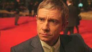 Martin Freeman at Hobbit premiere: Hilarious interview covers Benedict Cumberbatch