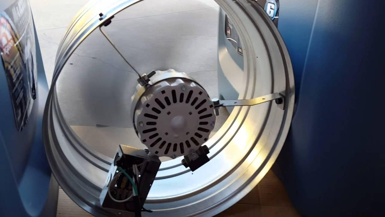 Broan 1600 CFM Power Gable Mount Attic Ventilator & Broan 1600 CFM Power Gable Mount Attic Ventilator - YouTube