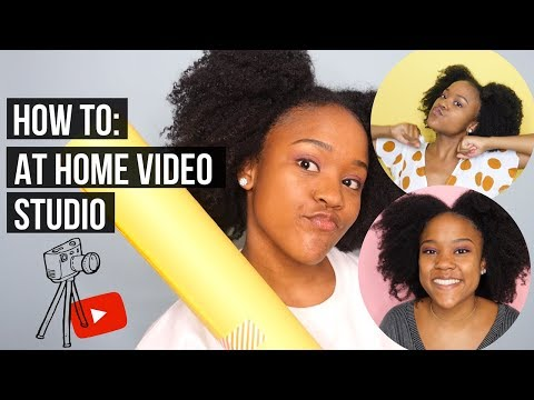 How to Create A Home YouTube Studio with Seamless Paper Backdrops