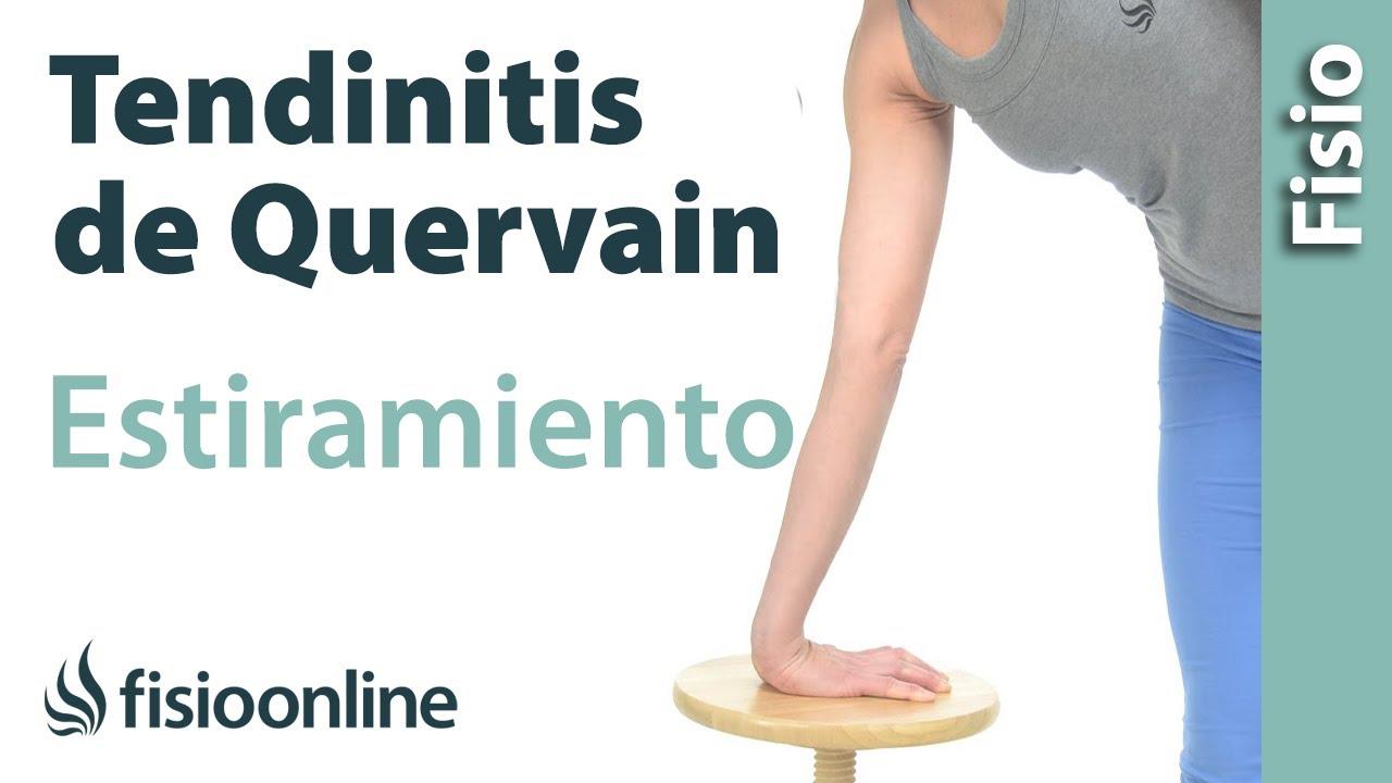 Estiramiento para la tendinitis de De Quervain o del pulgar - YouTube