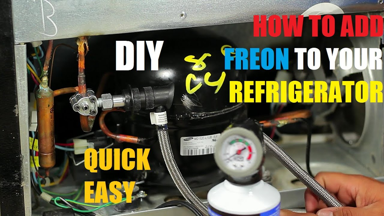 How To Add Freon Your Refrigerator 134a