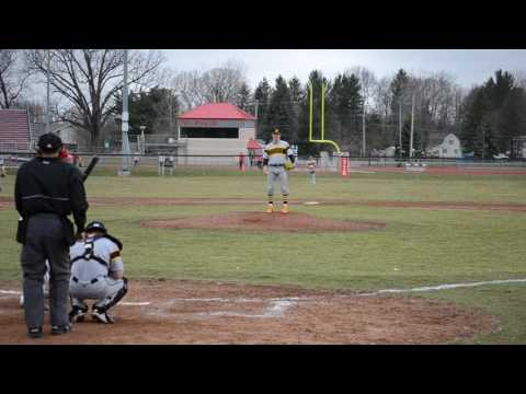 Pierce Banks Adrian College Pitching vs Olivet College MIAA Action