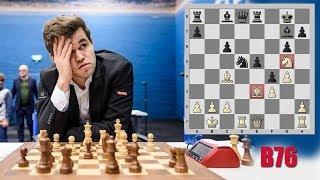 Магнус Карлсен зевает фигуру в дебюте, но всё равно побеждает. Карлсен - Джонс, Вейк-анн-Зее 2018