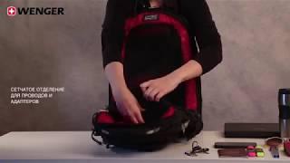 видео Рюкзак Wenger 11864415 серый/св. серый с отделением для ноутбука 15