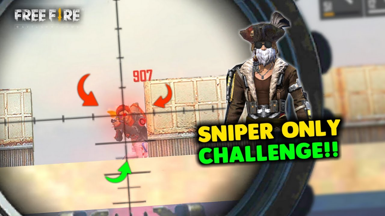 Double AWM Sniper Only Challenge - Garena Free Fire