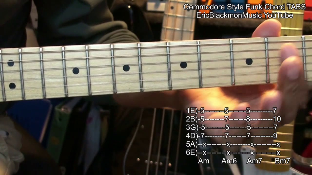 Brick House Commodores Guitar Chords Tabs Link To Youtube Lesson