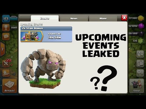Clash of Clans   Upcoming events information leaked   Events coming in 2017