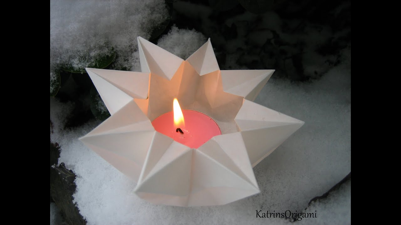 Papercraft Origami ✬ Star Lantern ✬ Teelichtstern