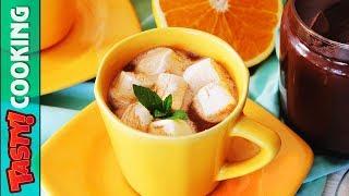 Homemade Hot Chocolate Recipe 🍊 Orange Flavor 🍊 Tasty Cooking