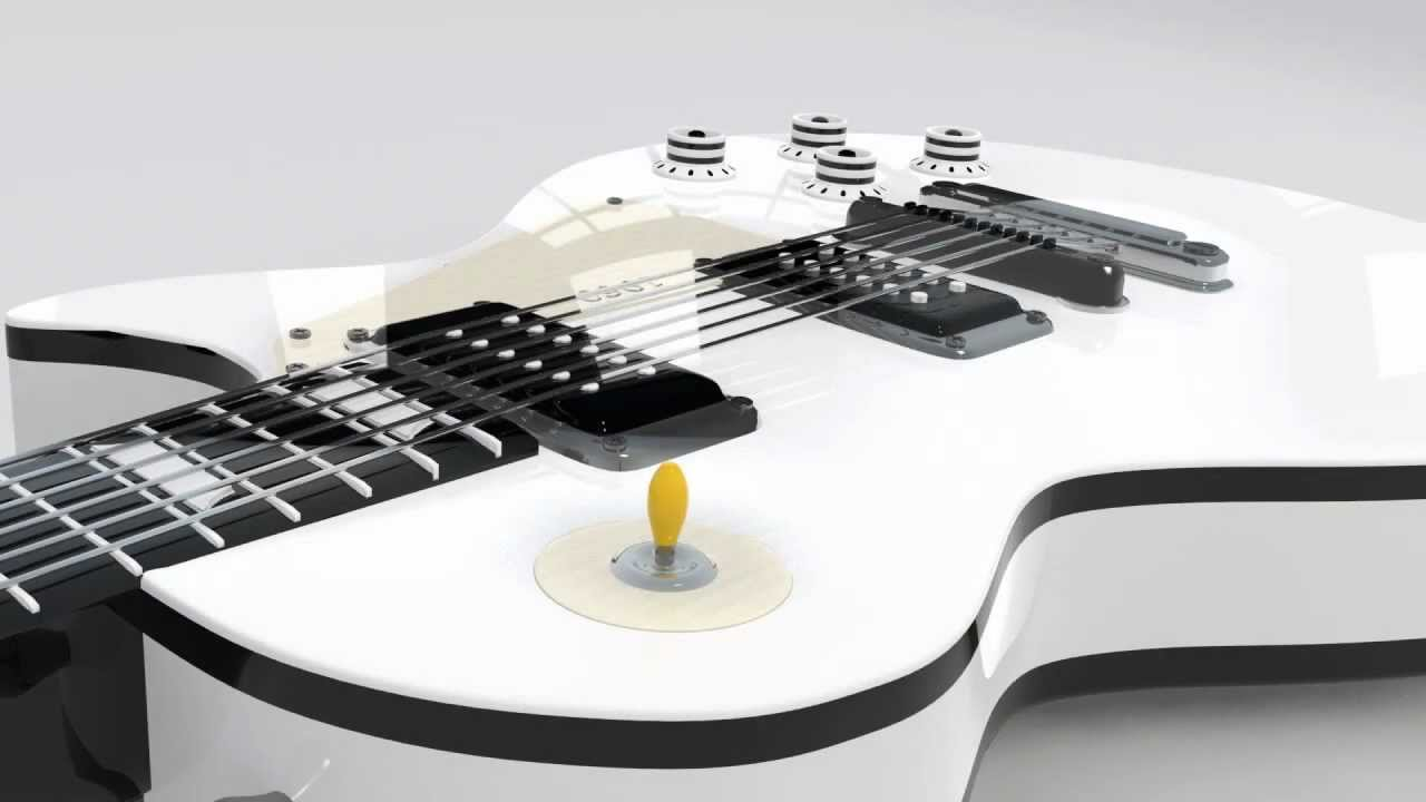 professional gibson les paul electric guitar 3d model youtube. Black Bedroom Furniture Sets. Home Design Ideas