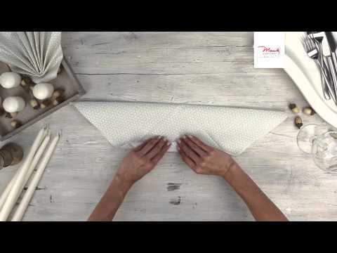 """Servietten falten """"Muschel""""/ Napkin folding """"shell"""" (Mank GmbH)"""