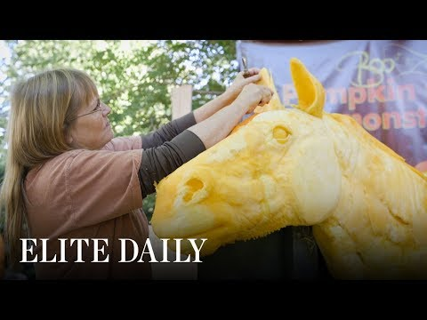 This Woman Gets Paid To Carve Pumpkins [Insights]
