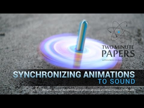 Synchronizing Animations To Sound | Two Minute Papers #108