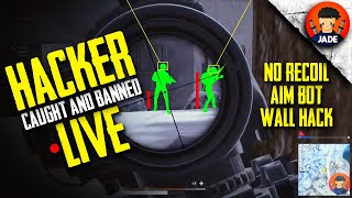 Hacker Caught and Banned Live - PUBG PC Lite - Aim-bot, No-recoil & Wall Hack Gameplay 😱🤯