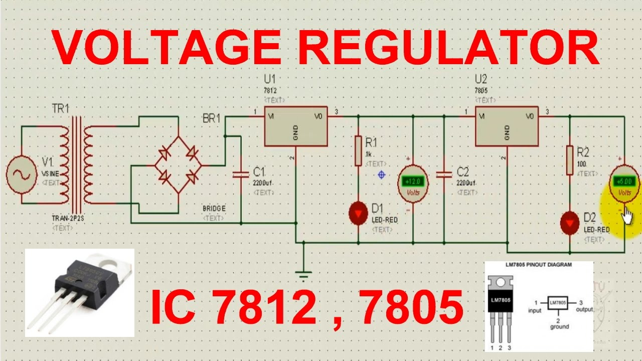 Regulated Power Supply Using Ic 7812 Youtube Voltage Regulator Equivalent Circuit Analogcircuit Basiccircuit