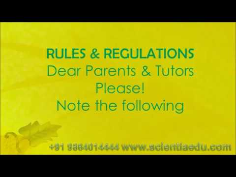 Rules and Regulations Home Tuition