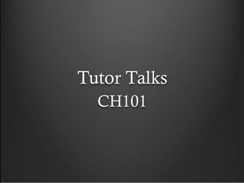 Tutor Talks: CH101