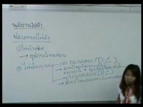 ตัวอย่างการสอน : วิทย์ติวเข้า ม.1 เรื่องพลังงงานไฟฟ้า้