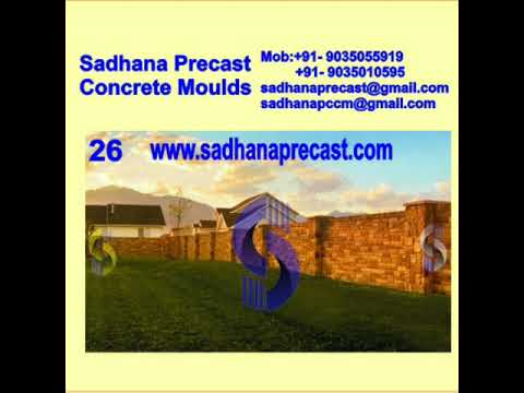 Sadhana Precast Compound wall Designed Moulds