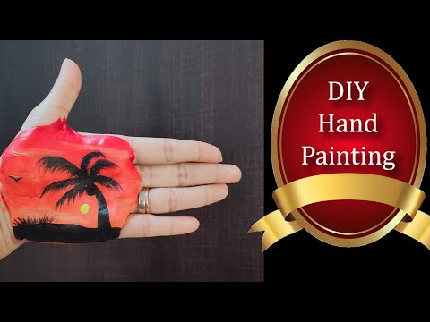 Quick N Easy Diy Hand Painting How To Paint On Hand Body Art Youtube
