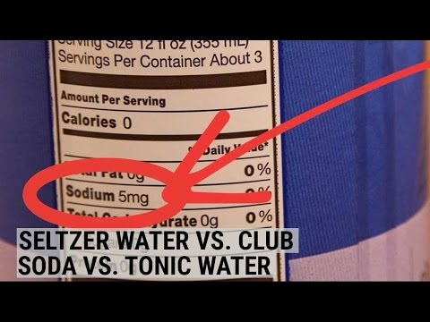 Seltzer Water, Club Soda, And Tonic Water Are All Quite Different