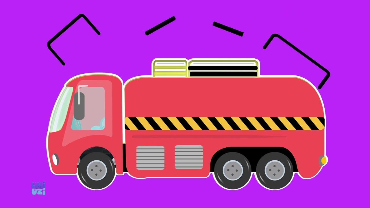 Gravel Truck   Umi Uzi's Wonderful Children's Cartoon Vehicles   Bulldozer   Bus Five Little Monkeys