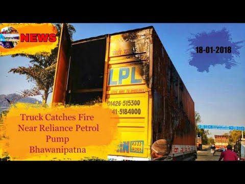 [NEWS] Bike carrier truck catches fire near Reliance Petrol Pump (Bandopala) in Bhawanipatna