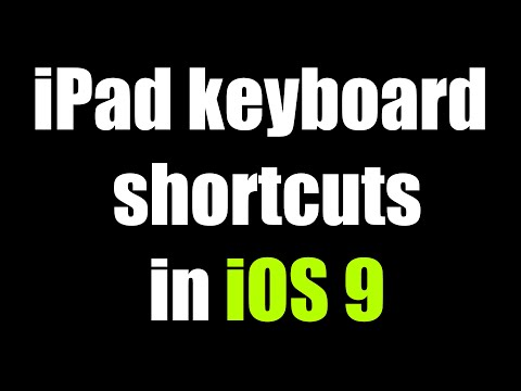 iOS 9 iPad Keyboard Shortcuts!