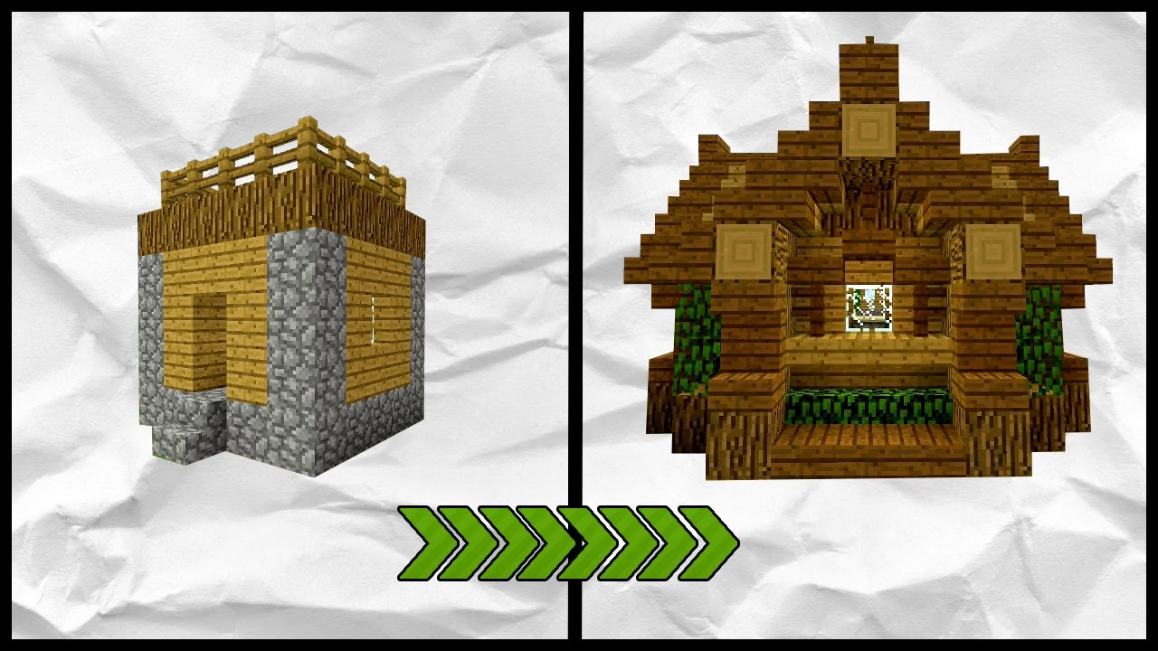 Minecraft how to transform a village small house tutorial youtube - How to make a small house ...