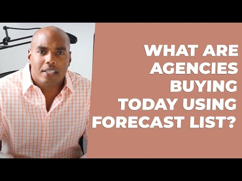 Find out what agencies are buying TODAY using Forecast List!