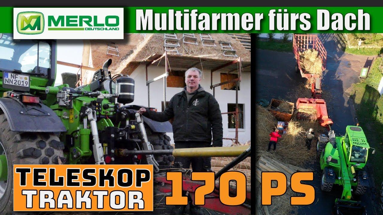 Multifarmer & Reetdach: Mix aus Teleskoplader + Traktor ersetzt Schlepper auf Föhr