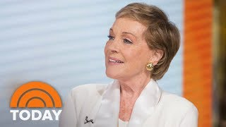 "Legendary actress and singer julie andrews visits today to talk about lending her famous voice the role of gru's mother in animated comedy ""despicable..."