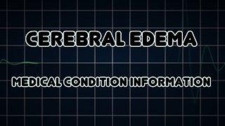 Cerebral Edema Symptoms