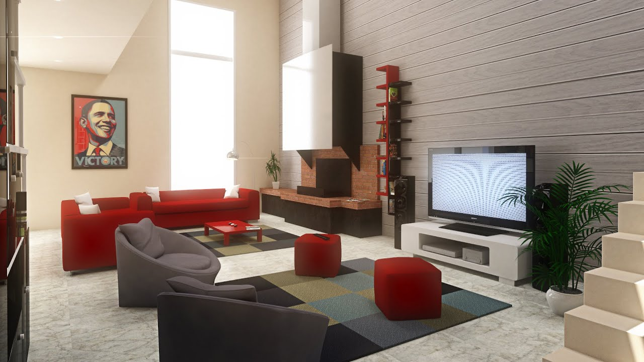 How to 3d living room youtube for Design your living room online 3d